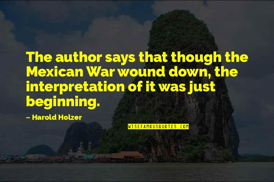 Just War Quotes By Harold Holzer: The author says that though the Mexican War