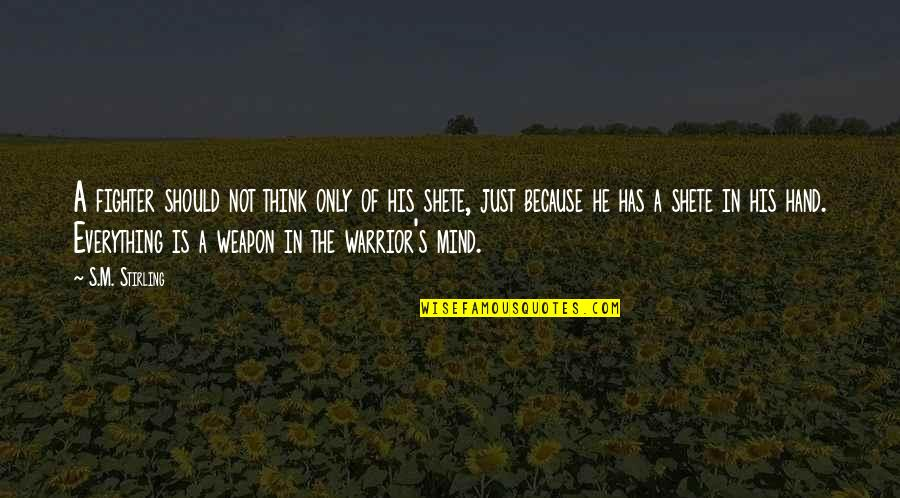 Just War Quotes By S.M. Stirling: A fighter should not think only of his