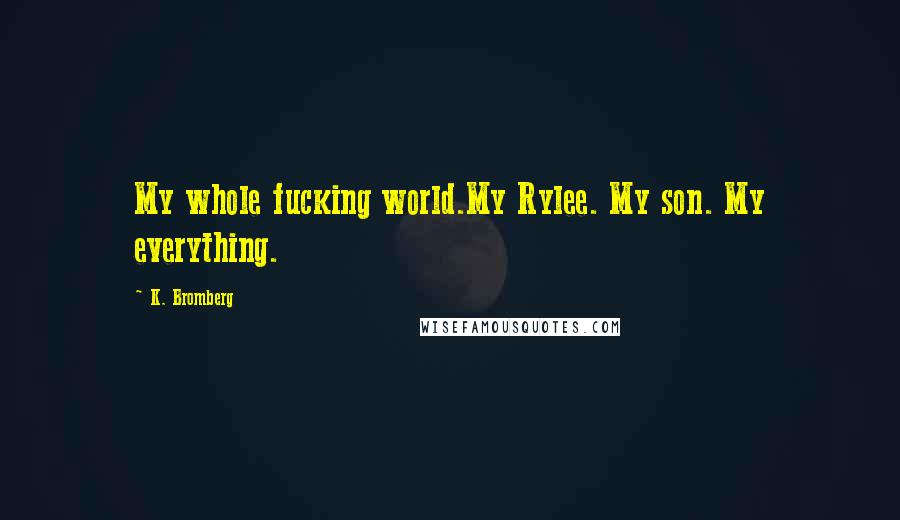 K. Bromberg quotes: My whole fucking world.My Rylee. My son. My everything.