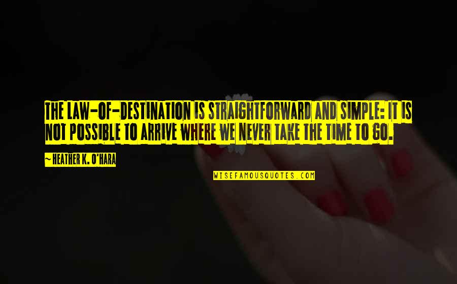 K Love Inspirational Quotes By Heather K. O'Hara: The Law-of-Destination is straightforward and simple: It is
