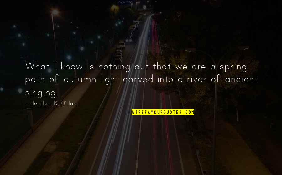 K Love Inspirational Quotes By Heather K. O'Hara: What I know is nothing but that we