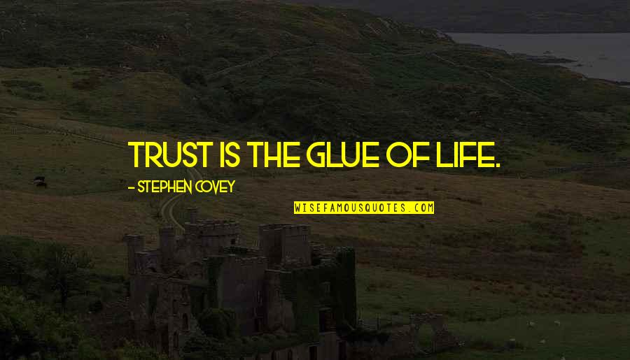 Kab Scout Quotes By Stephen Covey: Trust is the glue of life.