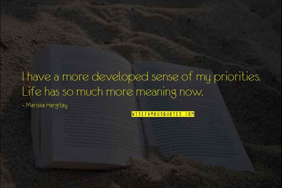 Kabaliwan Quotes By Mariska Hargitay: I have a more developed sense of my