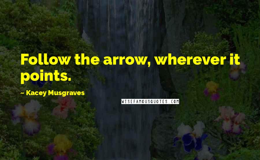 Kacey Musgraves quotes: Follow the arrow, wherever it points.