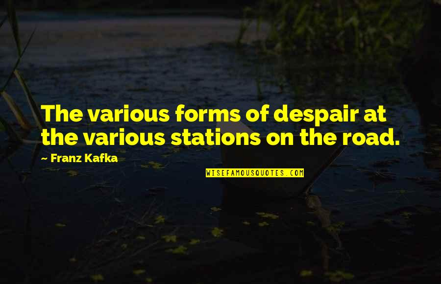 Kafka's Quotes By Franz Kafka: The various forms of despair at the various