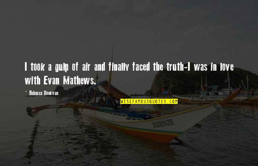 Kagandahan Quotes By Rebecca Donovan: I took a gulp of air and finally