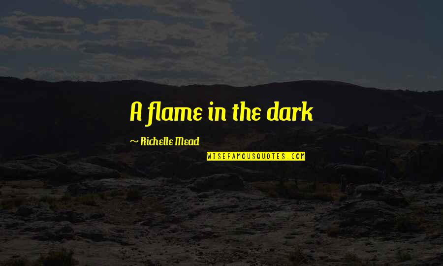 Kaidan Alenko Quotes By Richelle Mead: A flame in the dark