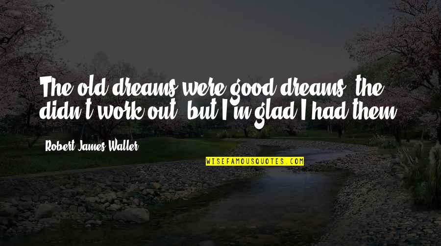 Kaidan Alenko Quotes By Robert James Waller: The old dreams were good dreams; the didn't