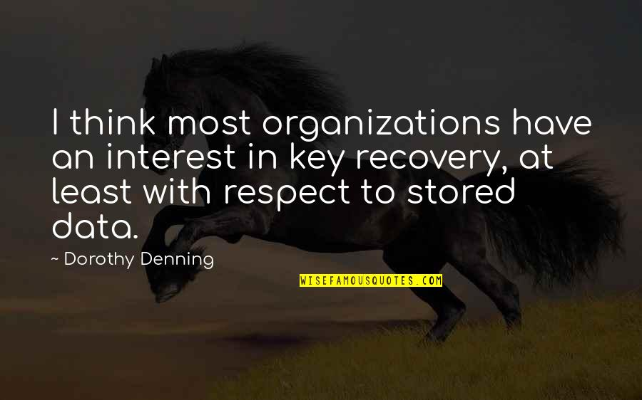Kamite Quotes By Dorothy Denning: I think most organizations have an interest in