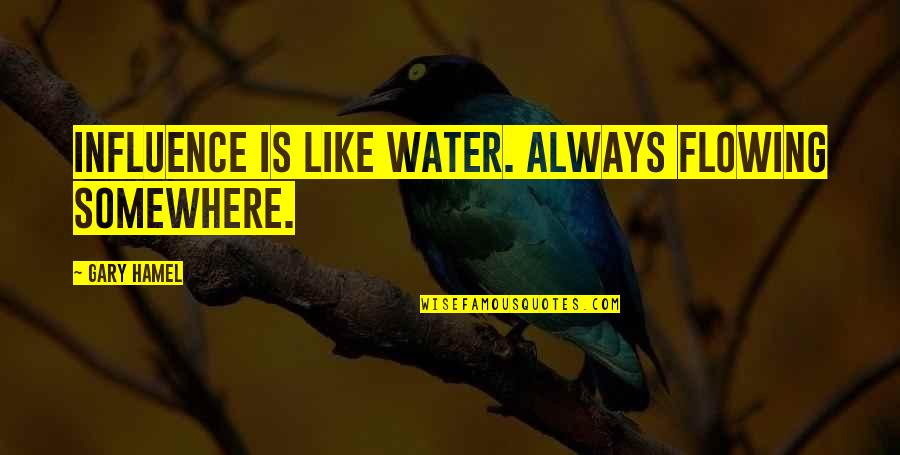 Kareena Kapoor Filmy Quotes By Gary Hamel: Influence is like water. Always flowing somewhere.