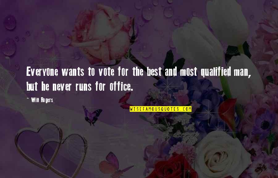 Kariotakis Quotes By Will Rogers: Everyone wants to vote for the best and