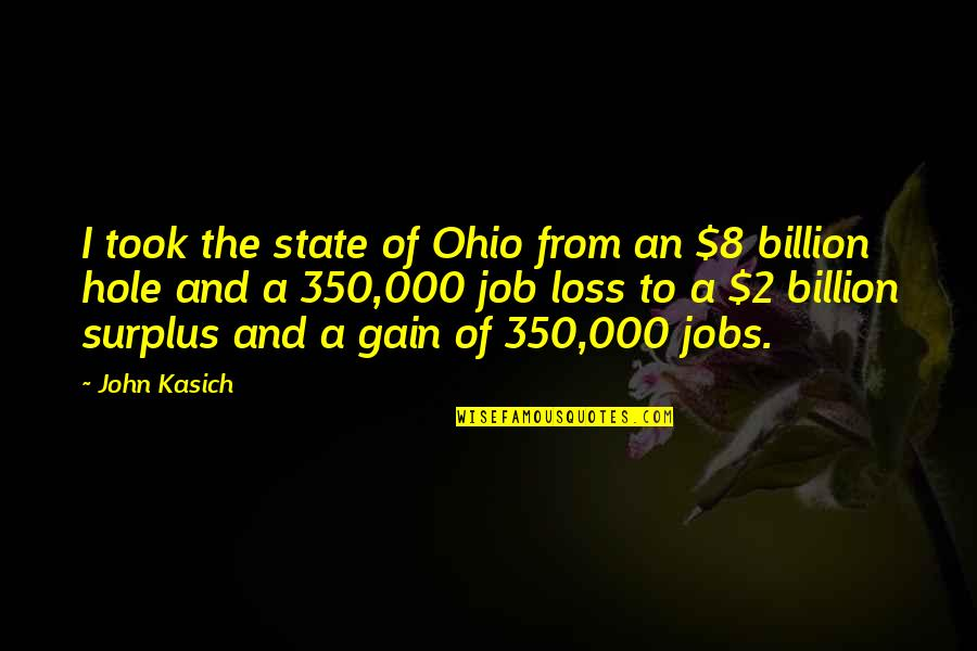 Kasich's Quotes By John Kasich: I took the state of Ohio from an