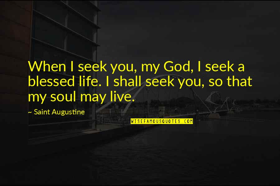 Kataryna's Quotes By Saint Augustine: When I seek you, my God, I seek