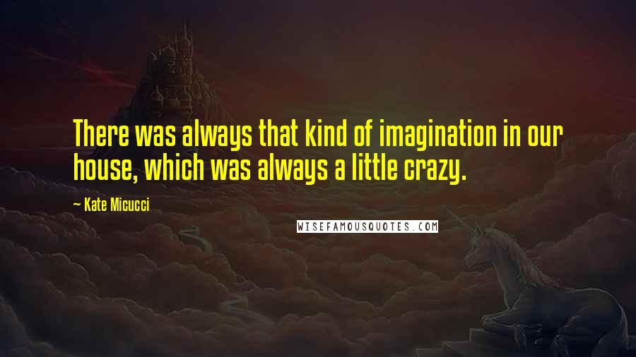Kate Micucci quotes: There was always that kind of imagination in our house, which was always a little crazy.