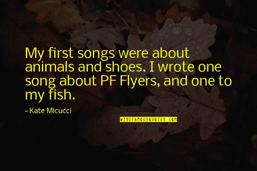 Kate Micucci Quotes By Kate Micucci: My first songs were about animals and shoes.