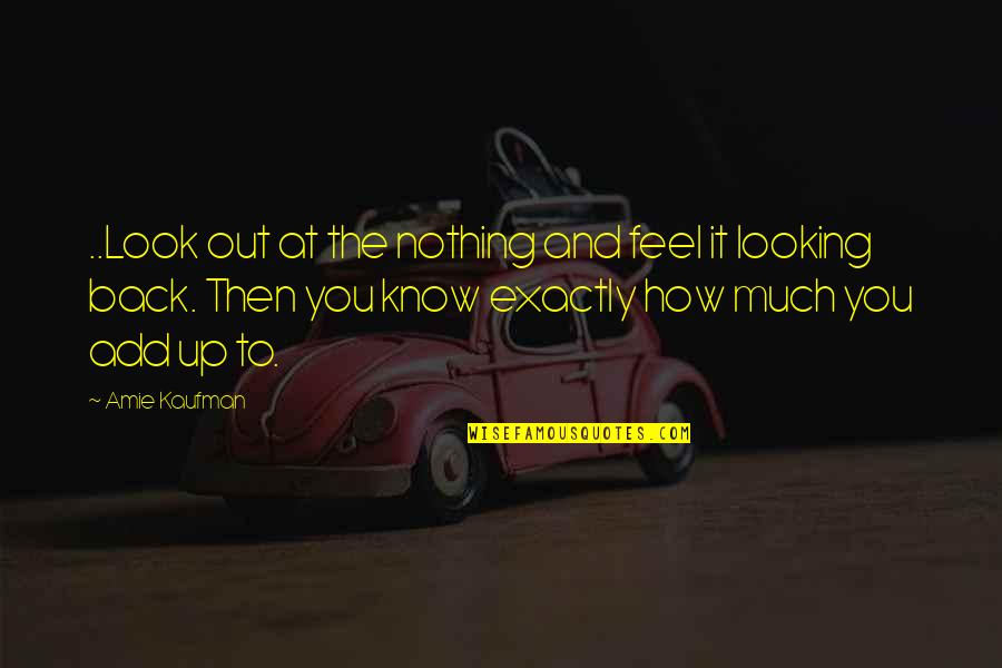 Katerina Ivanovna Quotes By Amie Kaufman: ..Look out at the nothing and feel it