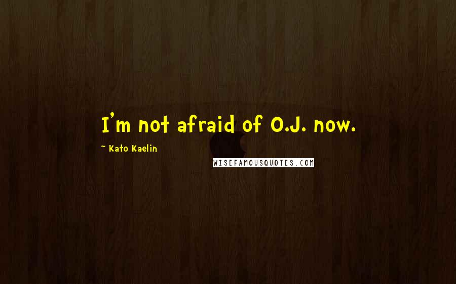 Kato Kaelin quotes: I'm not afraid of O.J. now.