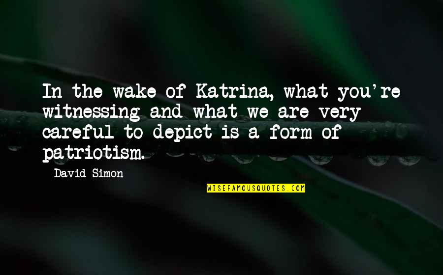 Katrina Quotes By David Simon: In the wake of Katrina, what you're witnessing