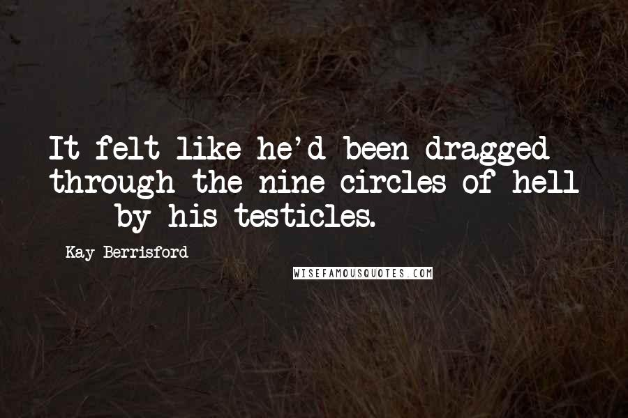 Kay Berrisford quotes: It felt like he'd been dragged through the nine circles of hell - by his testicles.