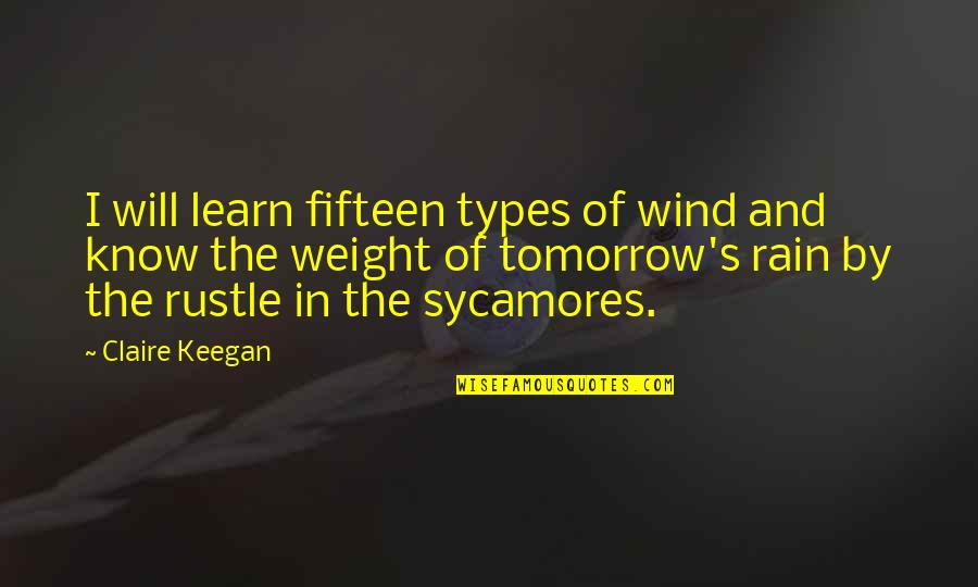 Keegan Quotes By Claire Keegan: I will learn fifteen types of wind and