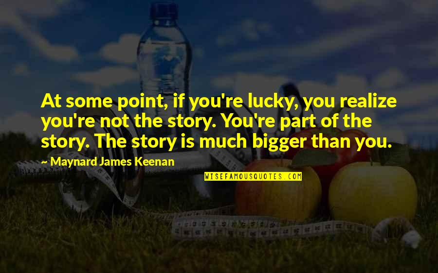 Keenan Quotes By Maynard James Keenan: At some point, if you're lucky, you realize