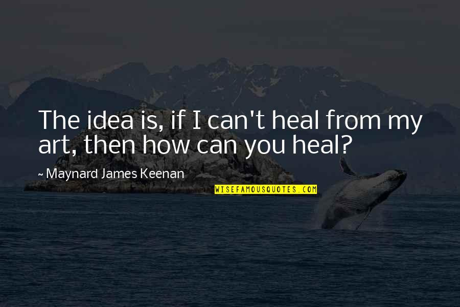 Keenan Quotes By Maynard James Keenan: The idea is, if I can't heal from