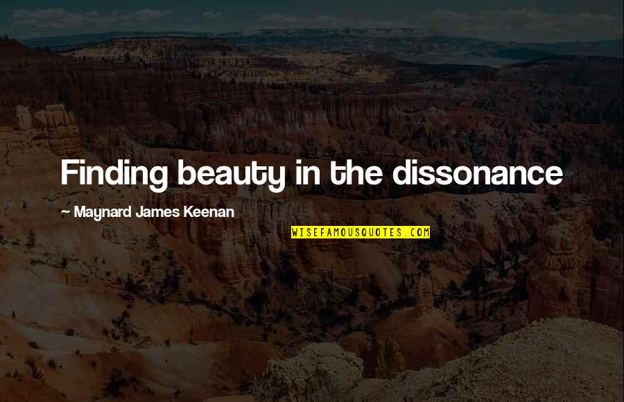 Keenan Quotes By Maynard James Keenan: Finding beauty in the dissonance