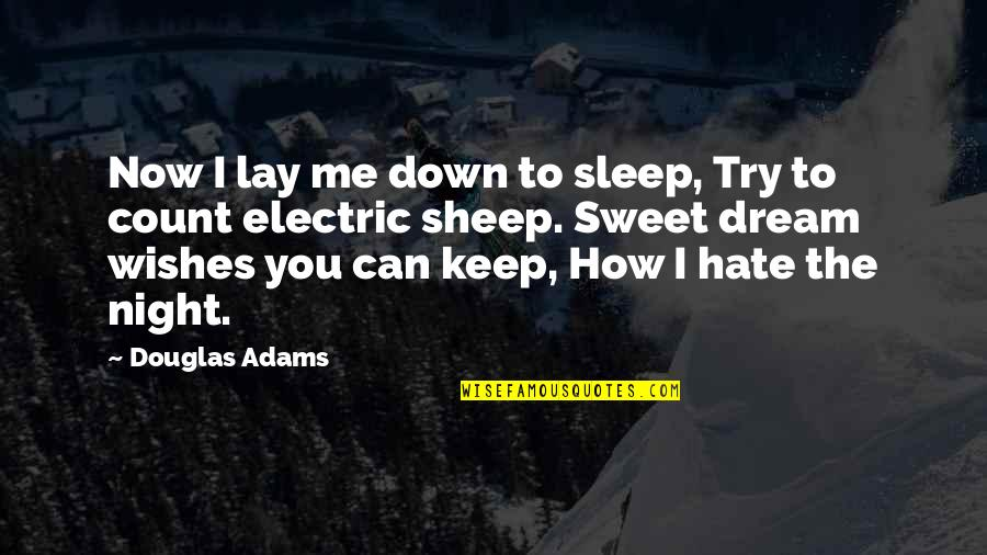 Keep Me Up All Night Quotes By Douglas Adams: Now I lay me down to sleep, Try