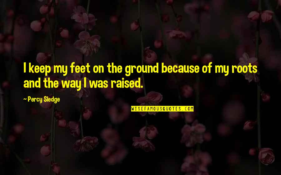 Keep My Feet On The Ground Quotes By Percy Sledge: I keep my feet on the ground because