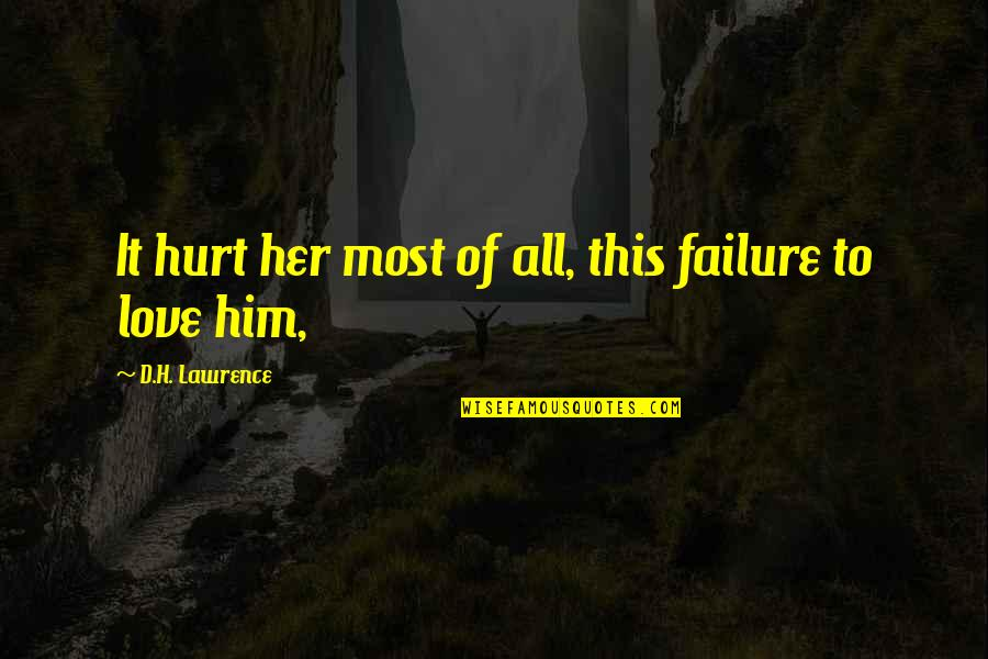 Keep Room Clean Quotes By D.H. Lawrence: It hurt her most of all, this failure