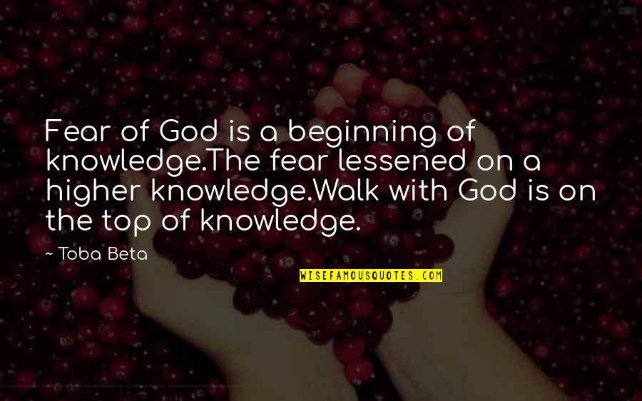 Kei Kurono Quotes By Toba Beta: Fear of God is a beginning of knowledge.The