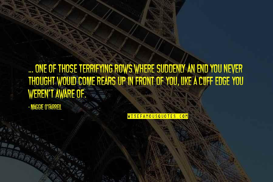 Keith Swanwick Quotes By Maggie O'Farrell: ... one of those terrifying rows where suddenly