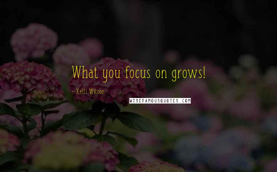 Kelli Wilson quotes: What you focus on grows!