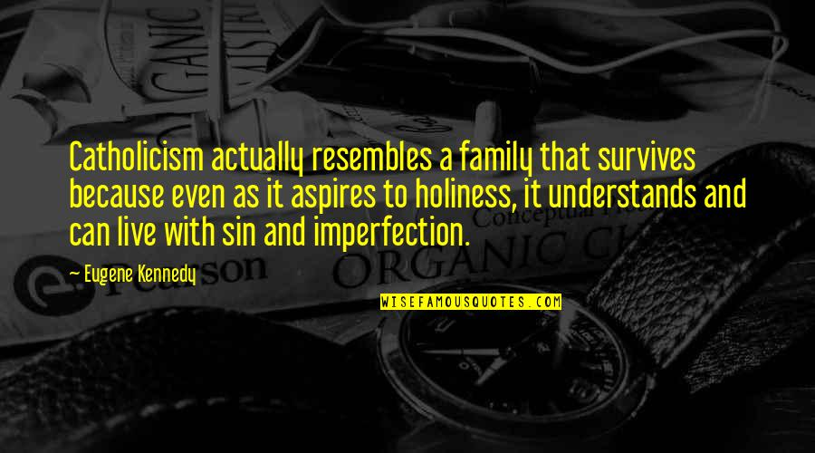 Kennedy Family Quotes By Eugene Kennedy: Catholicism actually resembles a family that survives because