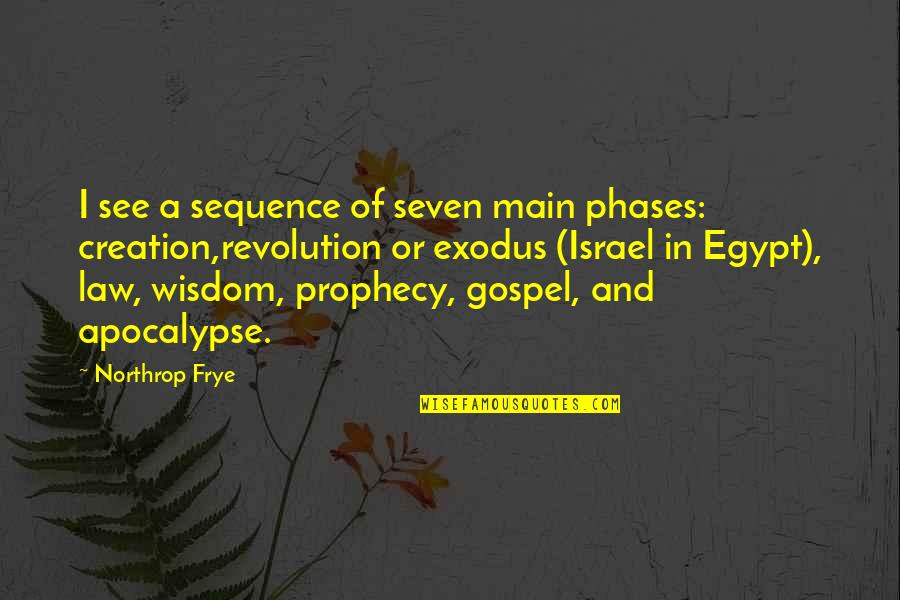 Kenneth Goldsmith Quotes By Northrop Frye: I see a sequence of seven main phases: