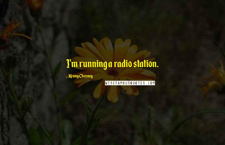 Kenny Chesney quotes: I'm running a radio station.