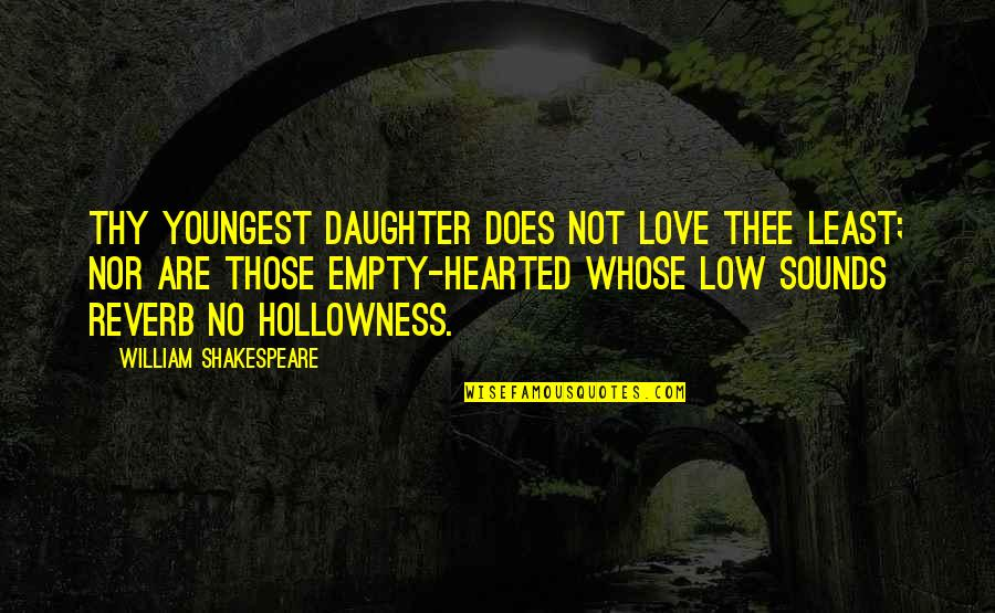 Kent King Lear Quotes By William Shakespeare: Thy youngest daughter does not love thee least;
