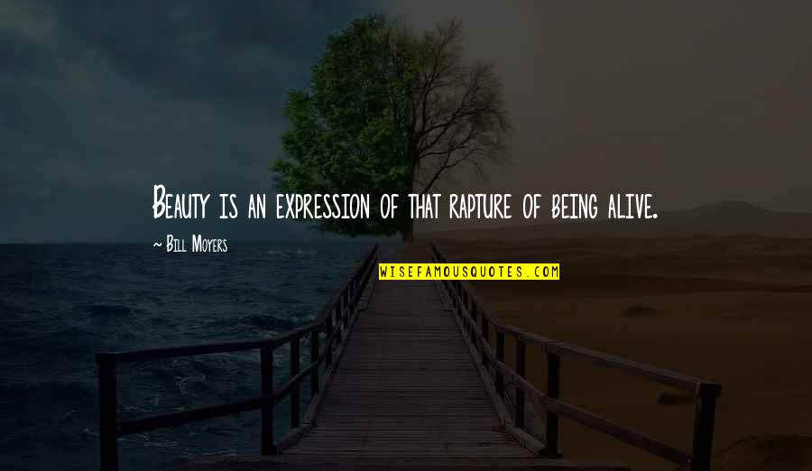 Kerst Quotes By Bill Moyers: Beauty is an expression of that rapture of
