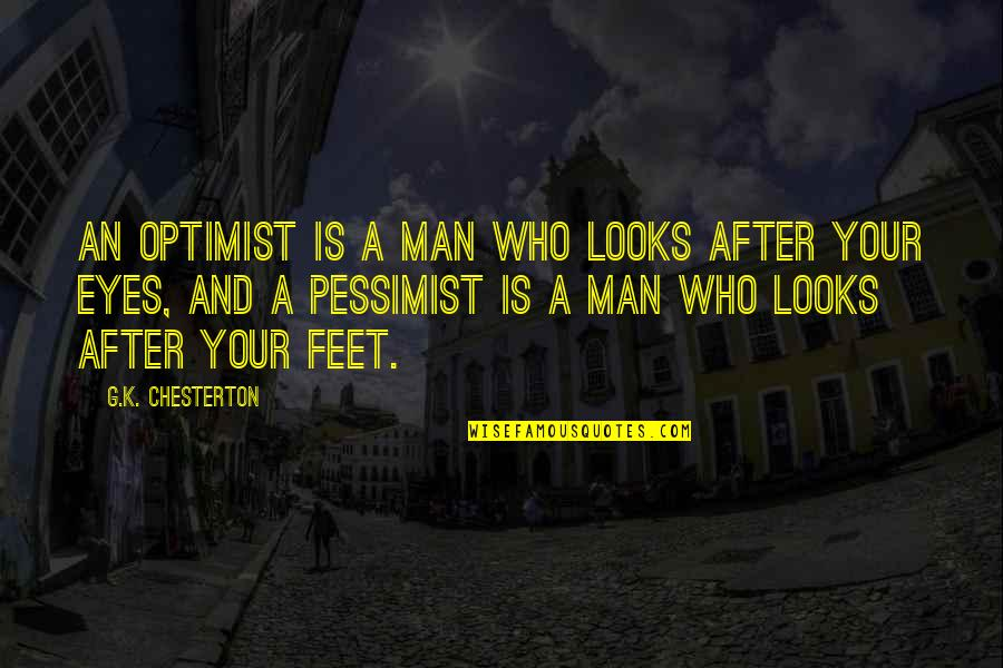 Kevin From Tomorrow When The War Began Quotes By G.K. Chesterton: An optimist is a man who looks after