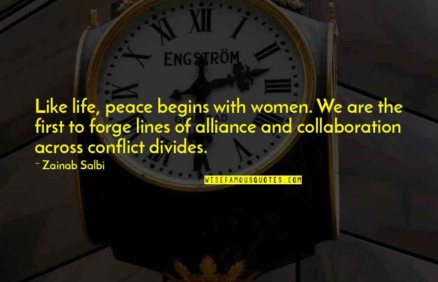 Kevin From Tomorrow When The War Began Quotes By Zainab Salbi: Like life, peace begins with women. We are