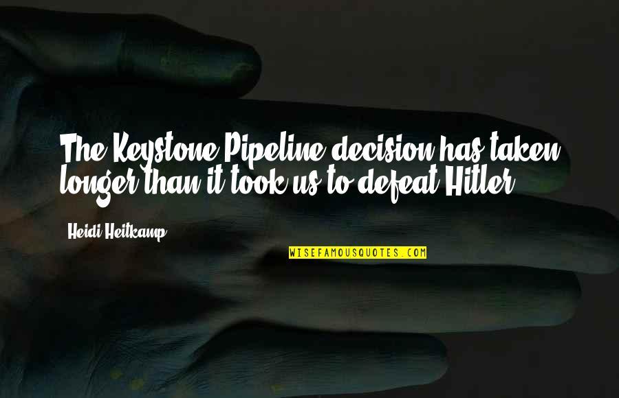 Keystone Pipeline Quotes By Heidi Heitkamp: The Keystone Pipeline decision has taken longer than