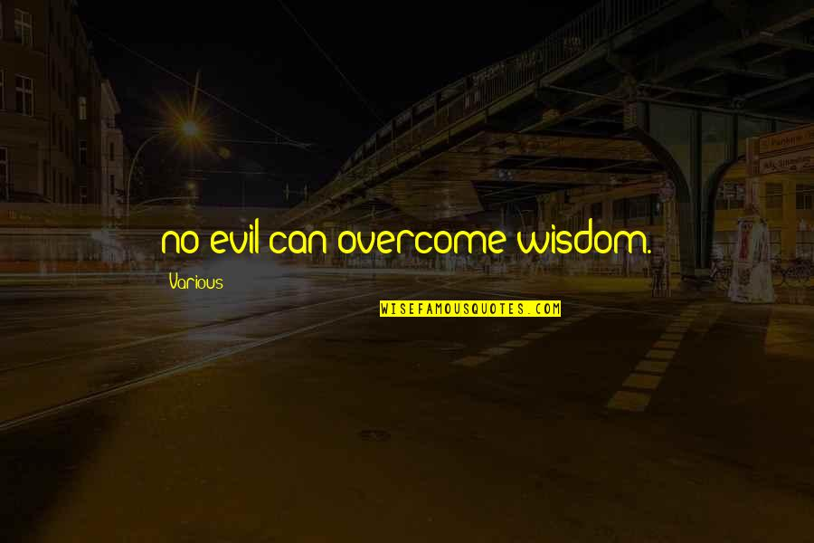 Kibbitz Quotes By Various: no evil can overcome wisdom.