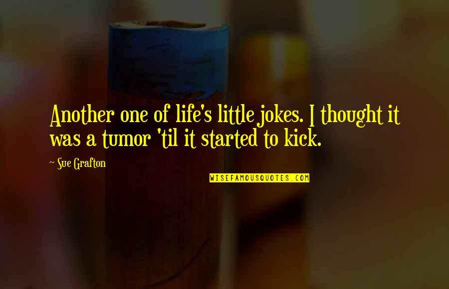 Kick Out Of Life Quotes By Sue Grafton: Another one of life's little jokes. I thought