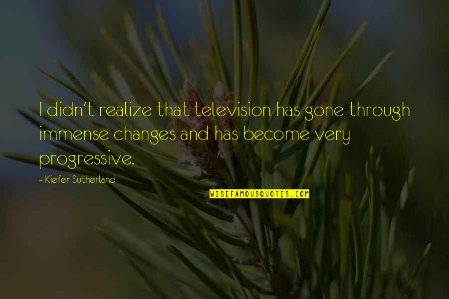 Kiefer Sutherland Quotes By Kiefer Sutherland: I didn't realize that television has gone through