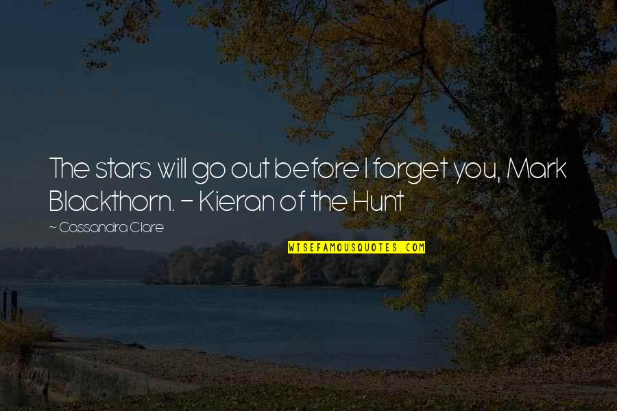 Kieran Quotes By Cassandra Clare: The stars will go out before I forget