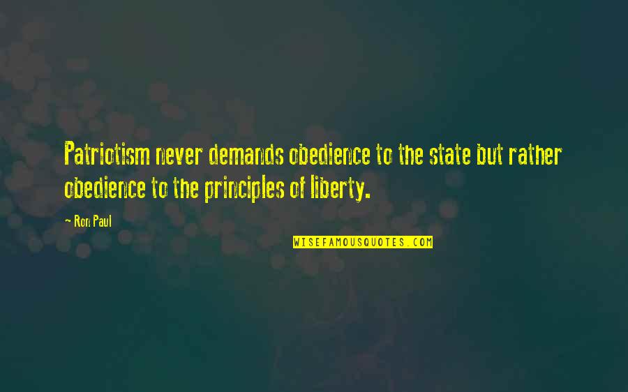 Kindness At Christmas Quotes By Ron Paul: Patriotism never demands obedience to the state but