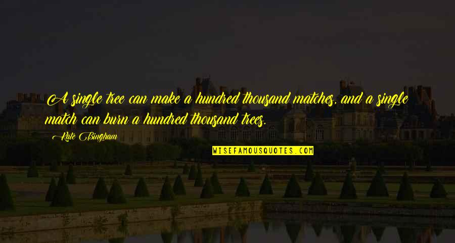 King Henry Iv France Quotes By Kate Bingham: A single tree can make a hundred thousand