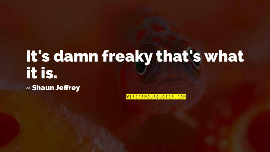 King Henry Viii Reformation Quotes By Shaun Jeffrey: It's damn freaky that's what it is.