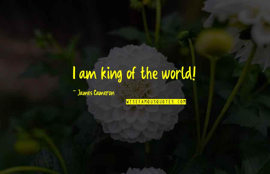 King James I Quotes By James Cameron: I am king of the world!
