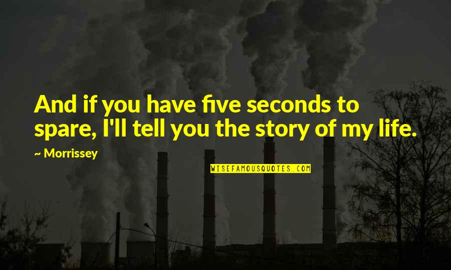 King Kong 1933 Quotes By Morrissey: And if you have five seconds to spare,
